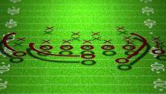 4K American Football Tactics 3 Stock Footage