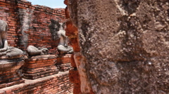 Dolly: The Buddhist stupas of temple, Thailand Stock Footage