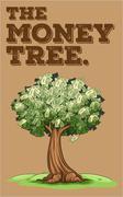 Money growing on a tree - stock illustration