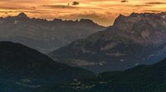 Haute Savoie Alps Apus ridges 4K Stock Footage