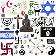 Religious Symbols - Isolated - stock illustration
