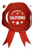 A Product Of California - stock illustration