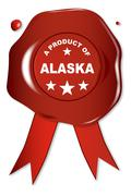 A Product Of Alaska - stock illustration
