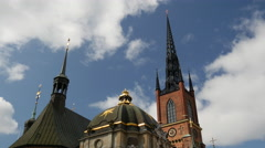 Time lapse from the Riddarholm Church in Stockholm Sweden Stock Footage