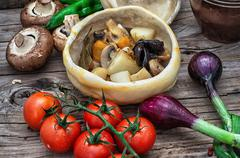 vegetable ragu - stock photo