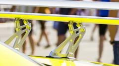 Spoiler Of Sport Car Stock Footage