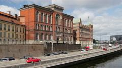 Stenbock Palaces on the island of Riddarholmen in Stockholm Sweden Stock Footage