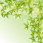 Stock Illustration of Colorful Stems and Bamboo Leaves Background. Vector Illustration