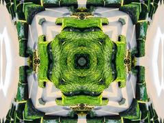 Ethnic pattern. Abstract kaleidoscope  fabric design. Stock Illustration