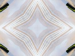 Stock Illustration of Ethnic pattern. Abstract kaleidoscope  fabric design.