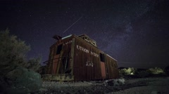Night Sky Time Lapse - Caboose - stock footage