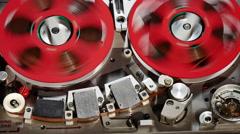 Vintage Reel to Reel Audio Tape Recorder mws fs 5 Stock Footage