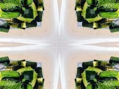 Ethnic pattern. Abstract kaleidoscope  fabric design. - stock illustration