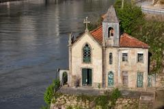 Stock Photo of Old Church by the Douro River in Portugal