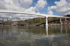 Porto Bridges Over Douro River in Portugal Stock Photos