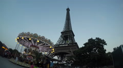Paris at the Blue Hour Stock Footage