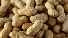 Peanuts in shells, overhead rotation Stock Footage