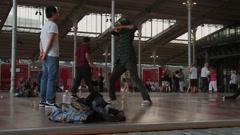 Break Dance and Valsa Dance, Paris Stock Footage
