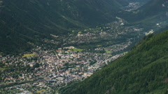 Chamonix village summer time lapse Stock Footage