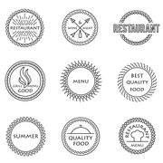 Set of outline emblems Stock Illustration