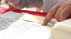 A Jewish Scribe Writes Torah Stock Footage
