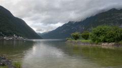 Beautiful Hallstatt lake Stock Footage