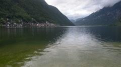 Beautiful Lake Hallstatt in Austria. Stock Footage