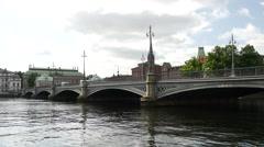 The Vasabron bridge in Stockholm Sweden Stock Footage