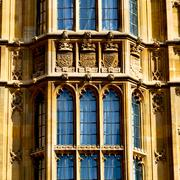 old in london  historical    parliament glass  window    structure and  refle - stock photo