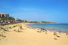 Miracle Beach in Tarragona, Spain Stock Photos
