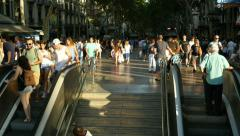 Mechanic Stairs in Downtown Barcelona 4k Stock Footage