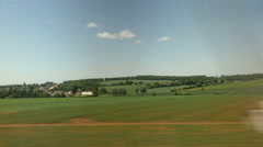 French landscape from riding train. Stock Footage