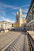 Cathedral of Zurich, Switzerland Stock Photos