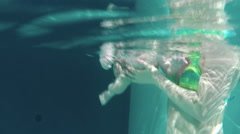 Infant Diving - stock footage
