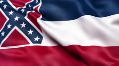 4K Mississippi state flag seamless loop Ultra-HD - stock footage