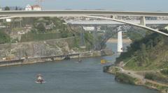 Bridges in Porto Stock Footage