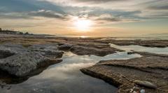 Lyttos Beach Sunset Stock Footage