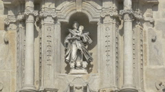 Statues on Porto Cathedral Stock Footage