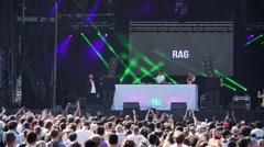 Cheering Crowd DJ Show Gay Pride - 60fps Stock Footage