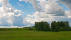 Russian nature. Passing clouds over the trees Stock Footage