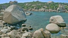 Le Piscine di Porto Cuncatu Rock Bay Sardinia Italy - 29,97FPS NTSC Stock Footage