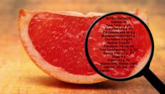 Blood orange nutrition facts Stock Footage