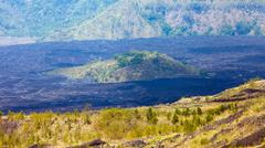 Batur Volcano in Indonesia, Bali Stock Photos