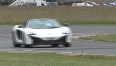 Supercars on track Stock Footage