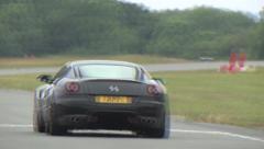 Ferrari 599 on track Stock Footage