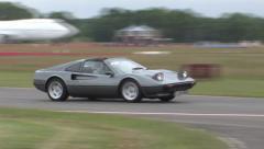 Classic Ferrari on track Stock Footage