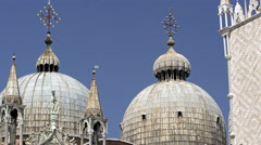 Slow motion tilt shot of Basilica San Marco Stock Footage