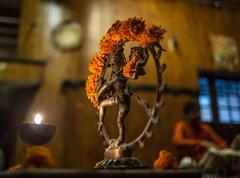 Illuminated, decorative Diwali lamp Stock Photos
