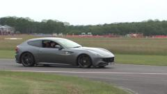 Ferrari FF on track - stock footage
