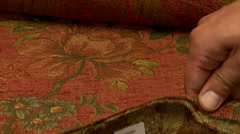 Fabric samples colors and patterns Stock Footage